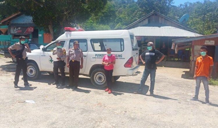 Sosialisasi Corona Kapolsek Umbu Ratu Nggay Kunjungi Terminal Langgaliru
