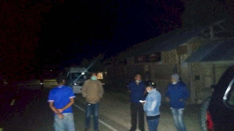 Cegah Corona | Bersama Camat URG & Kepala Puskesmas Lendiwacu, Kapolsek URG Hentikan Pesta Ulang Tahun