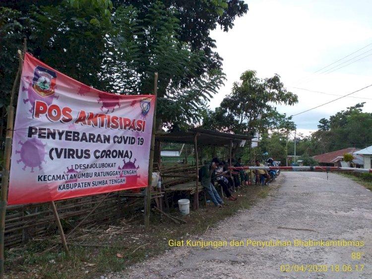 Stop Pandemi Corona, Brigpol Andreas Inisiatif Bangun 'Pos Antisipasi Penyebaran Covid 19'