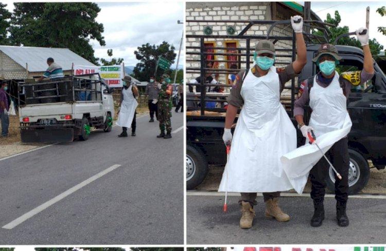 Cegah Corona || Polsek, Koramil dan Puskesmas Lakukan Tindakan Preventif di Wilayah Wanokaka