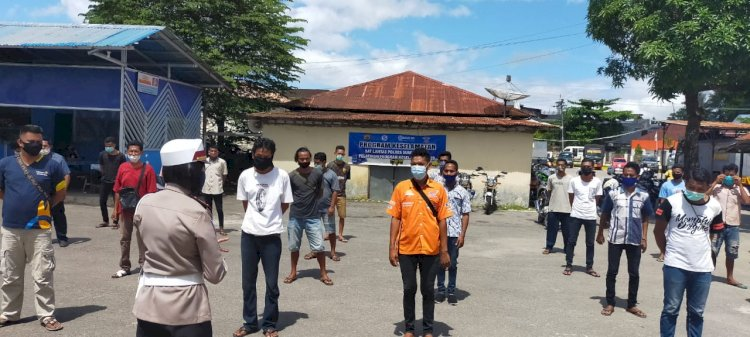 Cegah Covid 19 || Sejumlah Pengemudi Mengikuti Pelatihan Program Keselamatan di Polres Sumba Barat