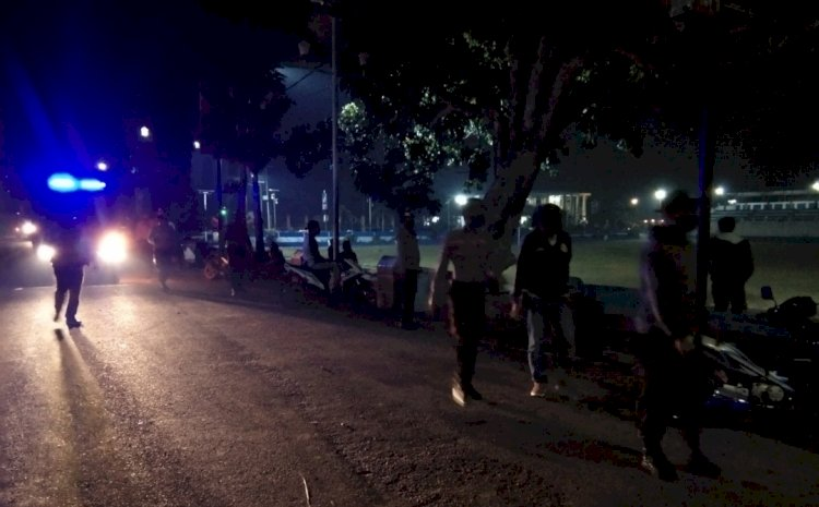 Cegah Penyebaran Covid 19, Tim Ops Aman Nusa II Tingkatkan Patroli Malam