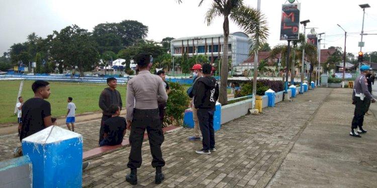 Cegah Covid 19 - Operasi Aman Nusa Mengimbau Warga Untuk Gunakan Masker dan Tidak Berkerumun