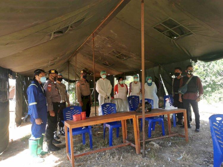 Cegah Covid 19 - Ops Aman Nusa II Imbau Warga Dan Sambangi Posko Covid 19 Di Perbatasan