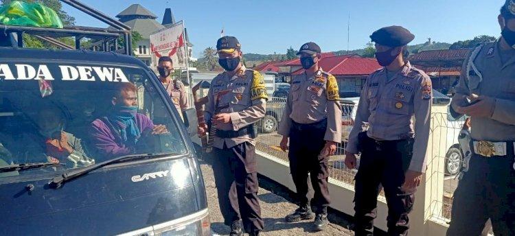 Pimpin Operasi Aman Nusa, Kapolres Imbau Masyarakat untuk Patuh Hukum & Taat Protokol Kesehatan Covid 19