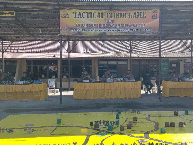 Polres Sumba Barat Gelar TFG Dalam Rangka Persiapan Pengamanan Pilkada Tahun 2020
