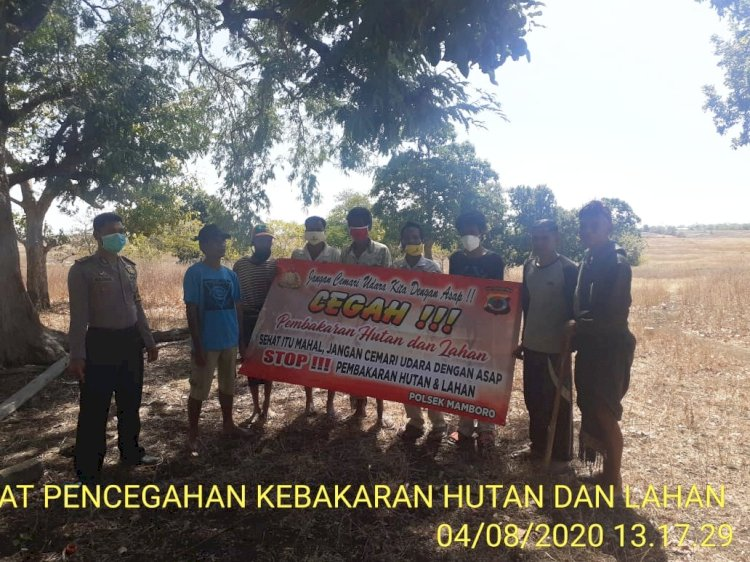 Bhabinkamtibmas Polsek Mamboro Gencar Sosialisasi Karhutla Kepada Desa Binaanya