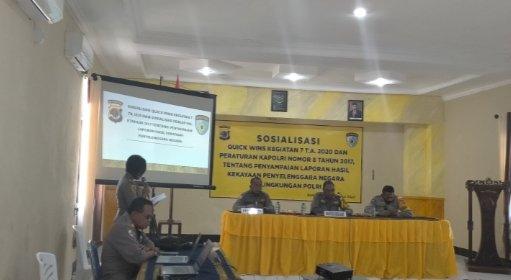 Sosialisasi Oleh Tim Itwasda Polda NTT di Polres Sumba Barat