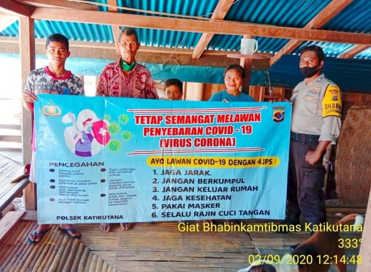 Himbauan Bhabinkamtibmas Polsek Katikutana Ajak Warganya Patuhi Protokol Kesehatan