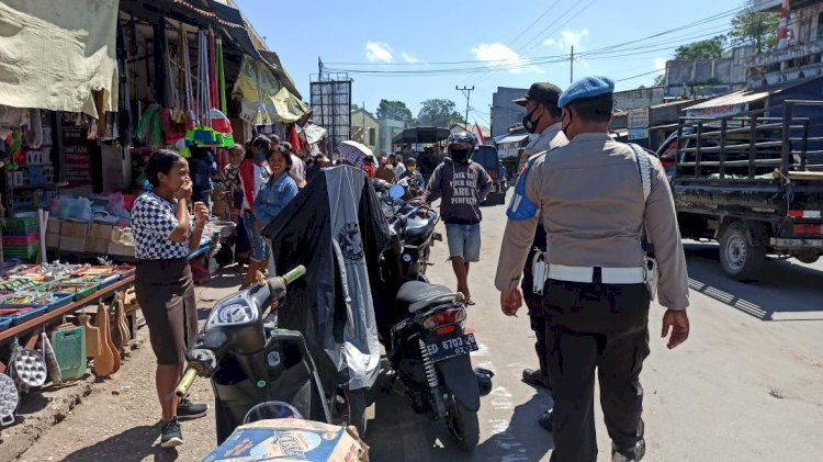 Stop Penyebaran Covid 19, Paur Sub Binops Polres Sumba Barat Pimpin Operasi Aman Nusa II Turangga 2020