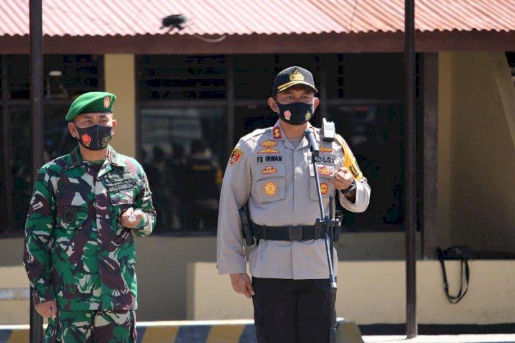 SINERGITAS TNI POLRI   Patroli Skala Besar Jelang Pilkada Serentak Tahun 2020 di Kabupaten Sumba Barat