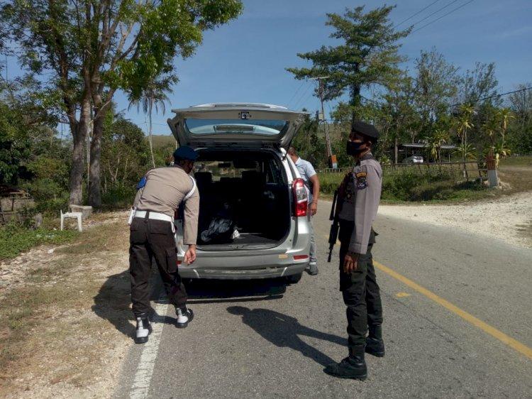 PILKADA DAMAI | Kapolsek URG Pimpin KRYD di Wilayah Perbatasan