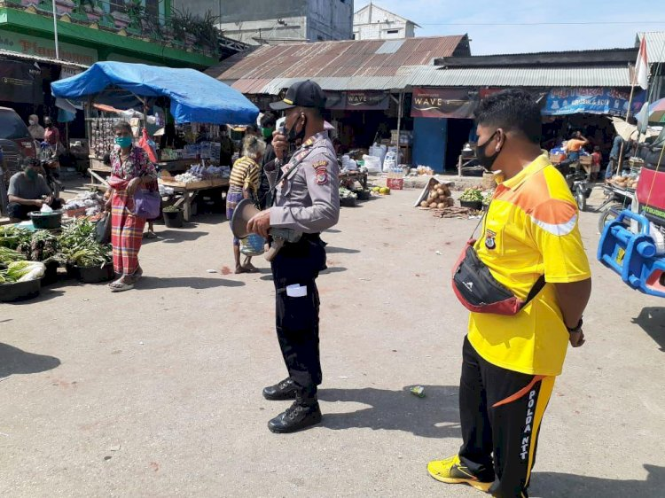 'Keluar Rumah Ingat Masker', Ujar IPTU Miasa pada Gelaran Operasi Aman Nusa II Turangga 2020