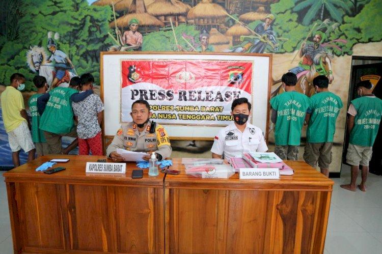 2 Minggu Saja, 7 Pelaku Tindak Kejahatan Berhasil Kami Amankan, Ujar Kapolres pada Gelaran Press Release