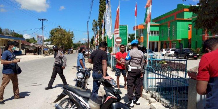 Ops Aman Nusa II Memerikan Imbauan Dan Sosialisai Sebagai Langkah Melawan Penyebaran Covid 19