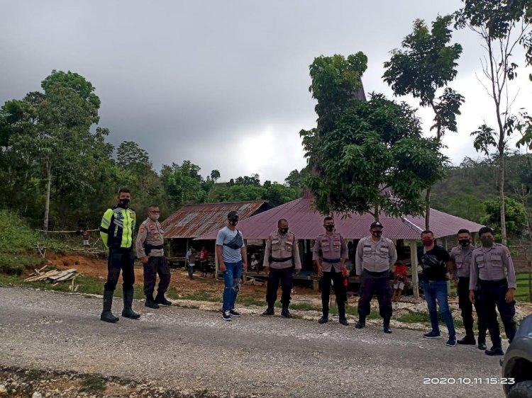 Kasat Binmas Pimpin Pengamanan Kampanye/Pertemuan Terbatas di Kecamatan Loli