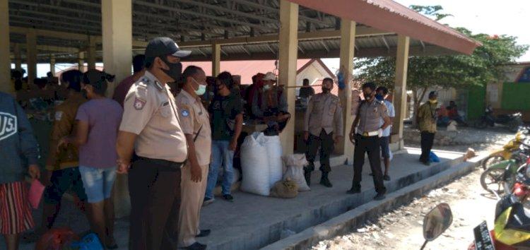 Kapolsek Mamboro Lakukan KRYD Di Pasar Mananga