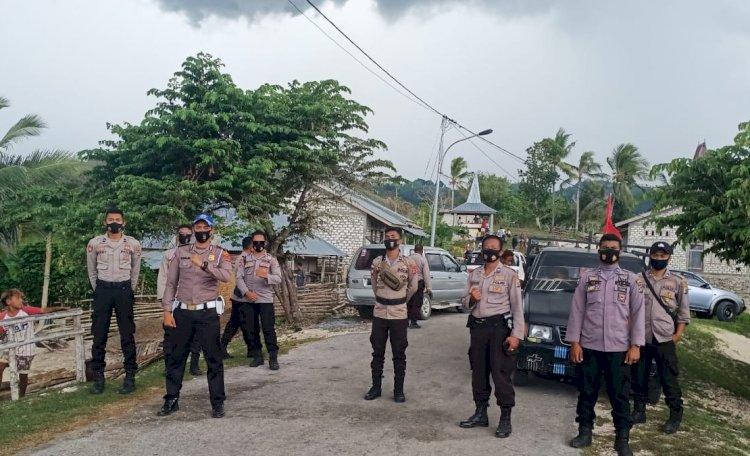 Kasat Binmas Pimpin Langsung Pengamanan Kampanye Terbatas Di Wilayah Tana Righu