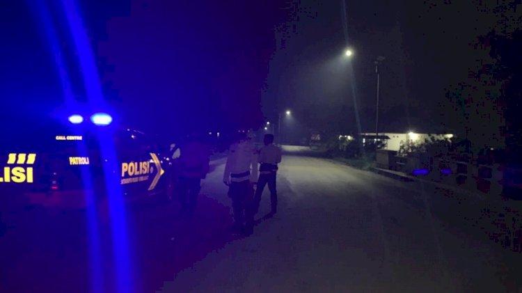 Cegah Tindak Kejahatan Tim Siaga Dalmas Polres Sumba Barat Melaksanakan Patroli Malam Di Seputaran Kota Waikabubak