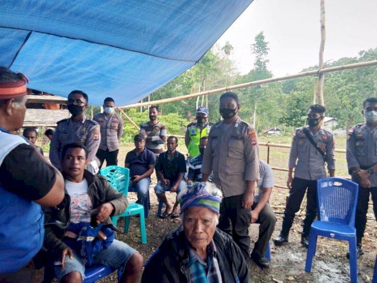KBO Lantas Pimpin Pengamanan Kampanye Terbatas di Kecamatan Loli