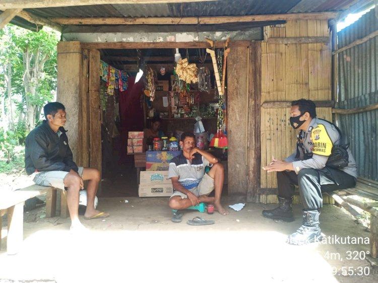Brigpol Putra Prima Sambang Desa Binaan Beri Himbauan Kepada Warga Patuhi Protokol Kesehatan