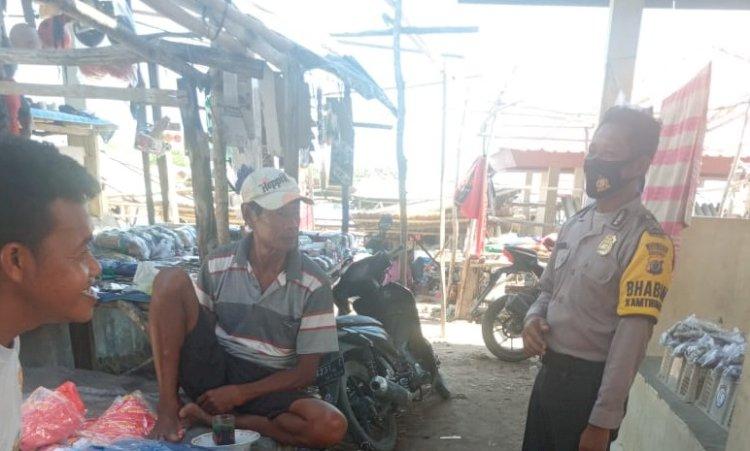 Menjadi Pusat Masyarakat Beraktivitas, Bripka Abdul Gelar Patroli & Monitoring di Pasar Mananga