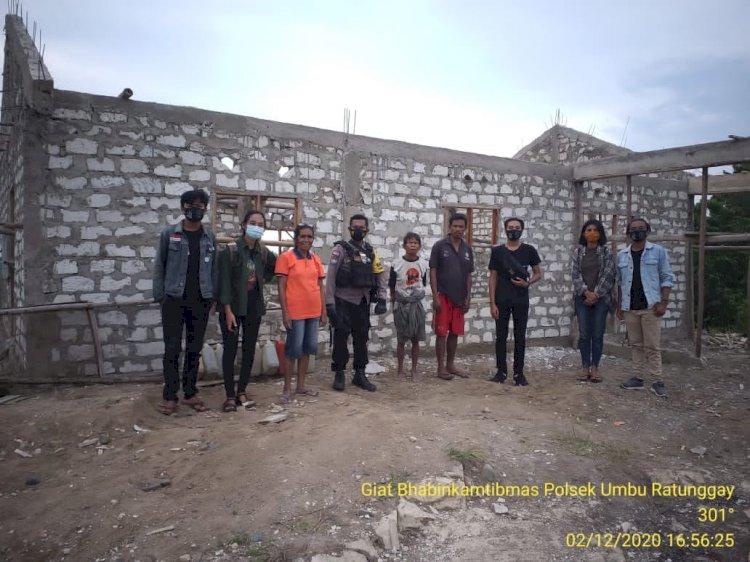 Berkontribusi untuk Warga Desa Binaan, Brigpol Andreas Serahkan 15 Karung Semen & 2 Pak Seng untuk Pembangunan Gereja