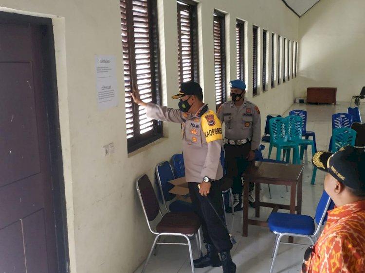 Kapolres Sumba Barat Pimpin Monitoring Kesiapan 3 Kantor Kecamatan yang Akan Dijadikan Tempat Penyimpanan Logistik