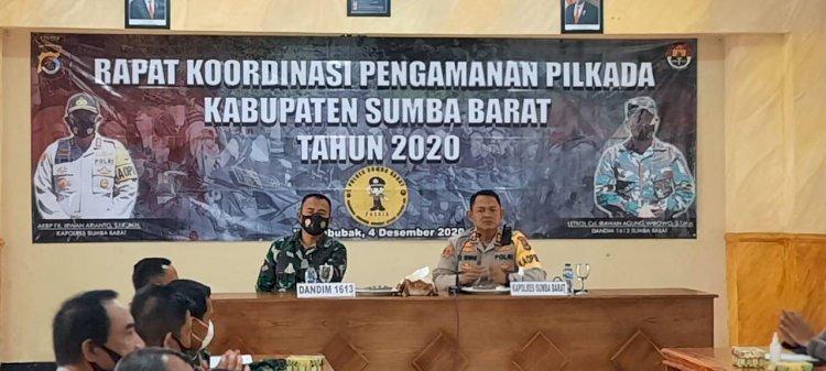 AKBP FX Irwan Arianto, S.I.K., M.H. Pimpin Rakor Pengamanan Pilkada Kabupaten Sumba Barat Tahun 2020
