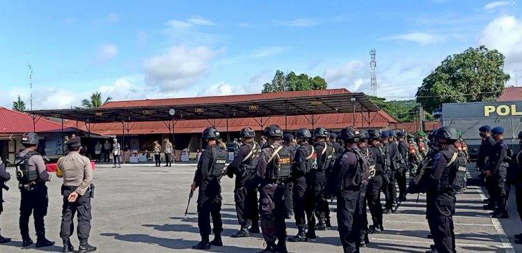 130 Brimob Nusantara dan 30 Personel Sabhara Siap Amankan Pleno KPU Sumba Barat