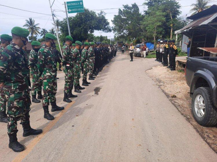 Pimpin Pengamanan Terbuka & Tertutup Rapat Pleno, Kapolres Sumba Barat Kerahkan 235 Personel Gabungan