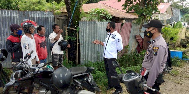 Sambangi Warga, Ops Aman Nusa II Ingatkan Protokol Kesehatan