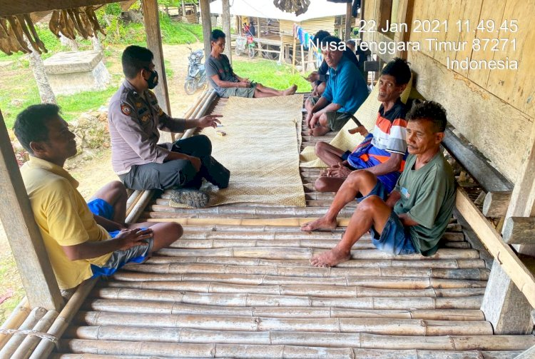 SOSIALISASI PROKES DI TENGAH PANDEMI COVID-19 BRIPTU DEWA TINGKATKAN SAMBANG WARGA