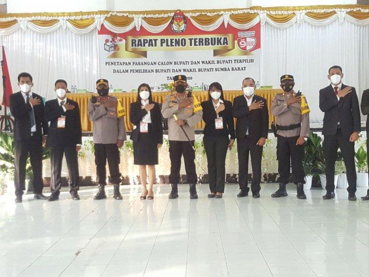 Berlangsung Damai, Kapolres Ucapkan Terima Kasih Kepada Masyarakat di Sela-sela Pimpin Pengamanan Pleno