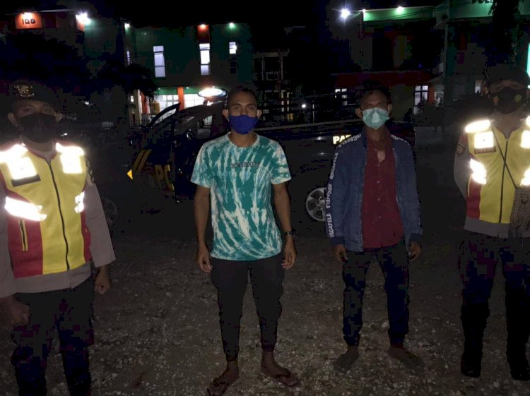 Dukung PPKM Skala Mikro, Sat Samapta Ton Turjawali Laksanakan Patroli malam