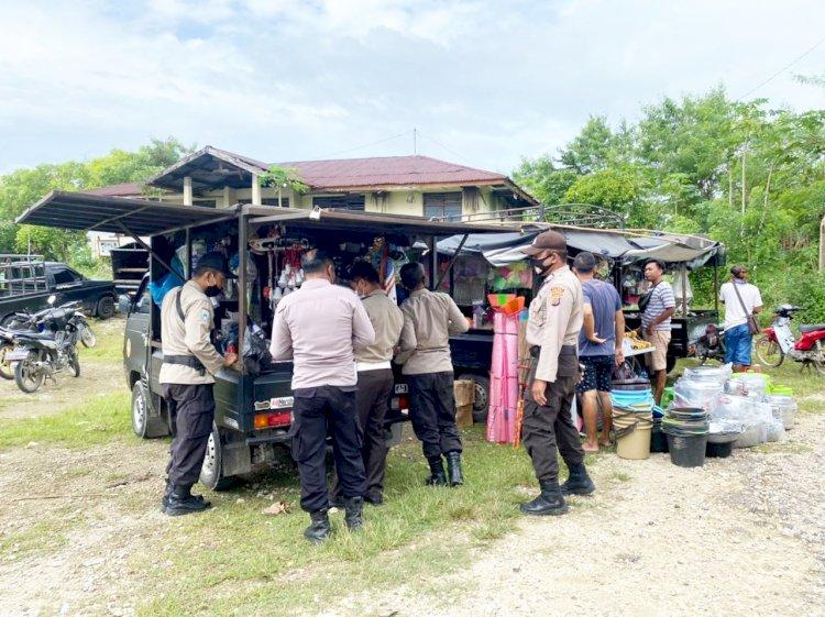 Tingkatkan Patroli KRYD Polsek Lamboya Beri Himbauan Protokol Kesehatan Covid-19