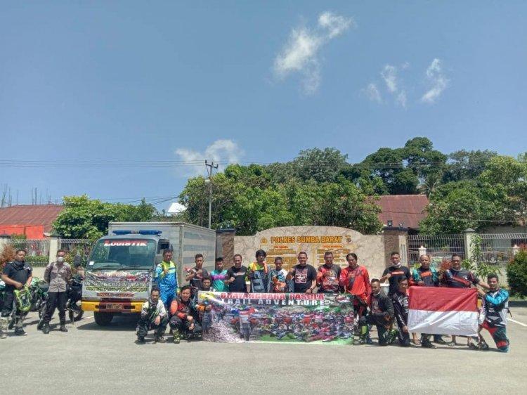 Kapolres Sumba Barat Pimpin Langsung Komunitas Bhayangkara Pasola Trail Adventure Peduli Bencana