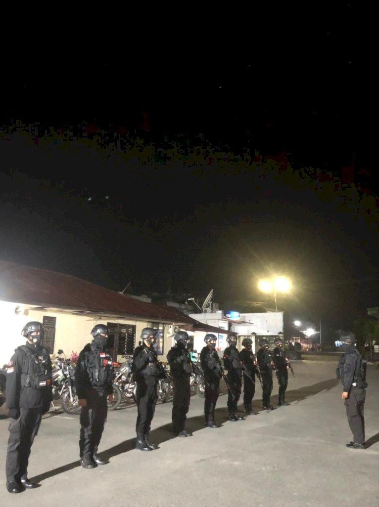 Tim Raimas Macan Kumbang, Gencar Laksanakan Patroli Malam Di Wilayah Hukum Polres Sumba Barat.