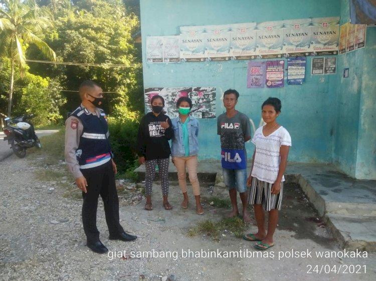 Bhabinkamtibmas Menjadi Ujung Tombak Polri Dalam Memberikan Himbauan Terkait Pandemi Covid 19