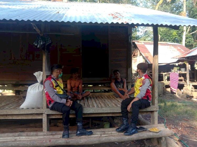 Patroli Ton Turjawali Sembari Memberikan Himbauan Covid 19 Kepada Warga