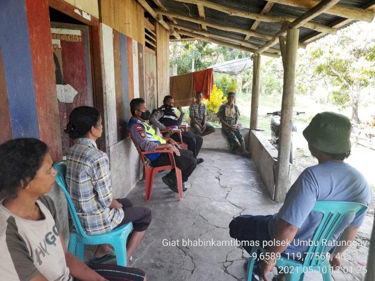 Bhabinkamtibmas Polsek Umbu Ratu Nggay Tekankan Beberapa Hal Penting Kepada Warga Desa Ngadu Olu