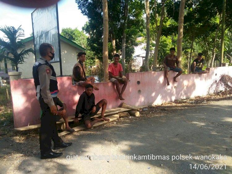 Bhabinkamtibmas Polsek Wanukaka Imbau Warga Binaan Untuk Selalu Patuhi Prokes