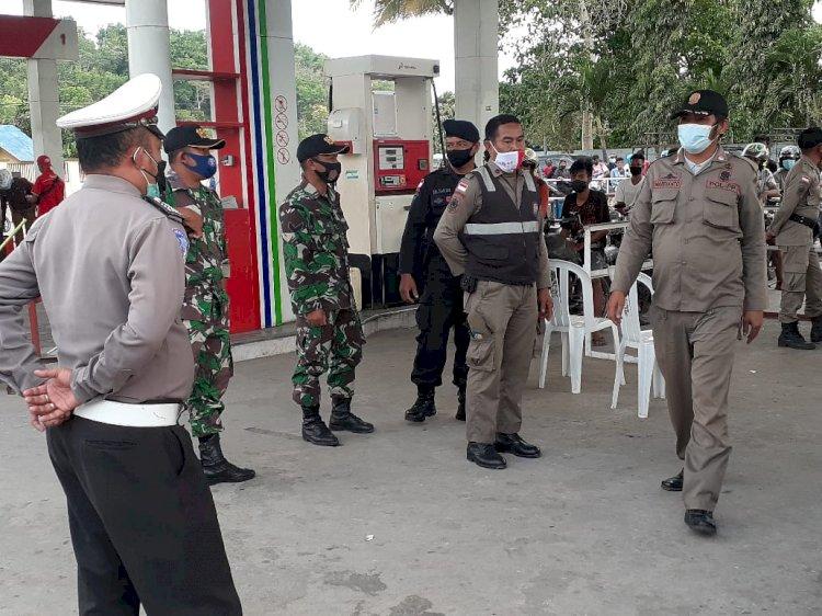 Patroli Tim Gabungan Dalam Rangka PPKM Di Kabupaten Sumba Tengah