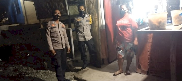 Tingkatkan Situasi Kamtibmas Di Wilayah Hukumnya Polsek Lamboya Gencarkan Patroli Malam