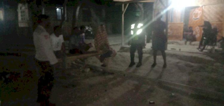 Personel Polsek Mamboro Laksanakan KRYD Ingatkan Warga Wendewa Utara Patuhi Prokes
