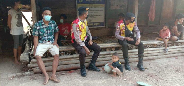 Rutin Patroli Di Masa Pandemi, Ton Turjawali Sumba Barat Imbau Protokol Kesehatan