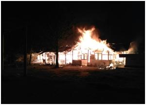 Rumah Hangus Terbakar Dilalap