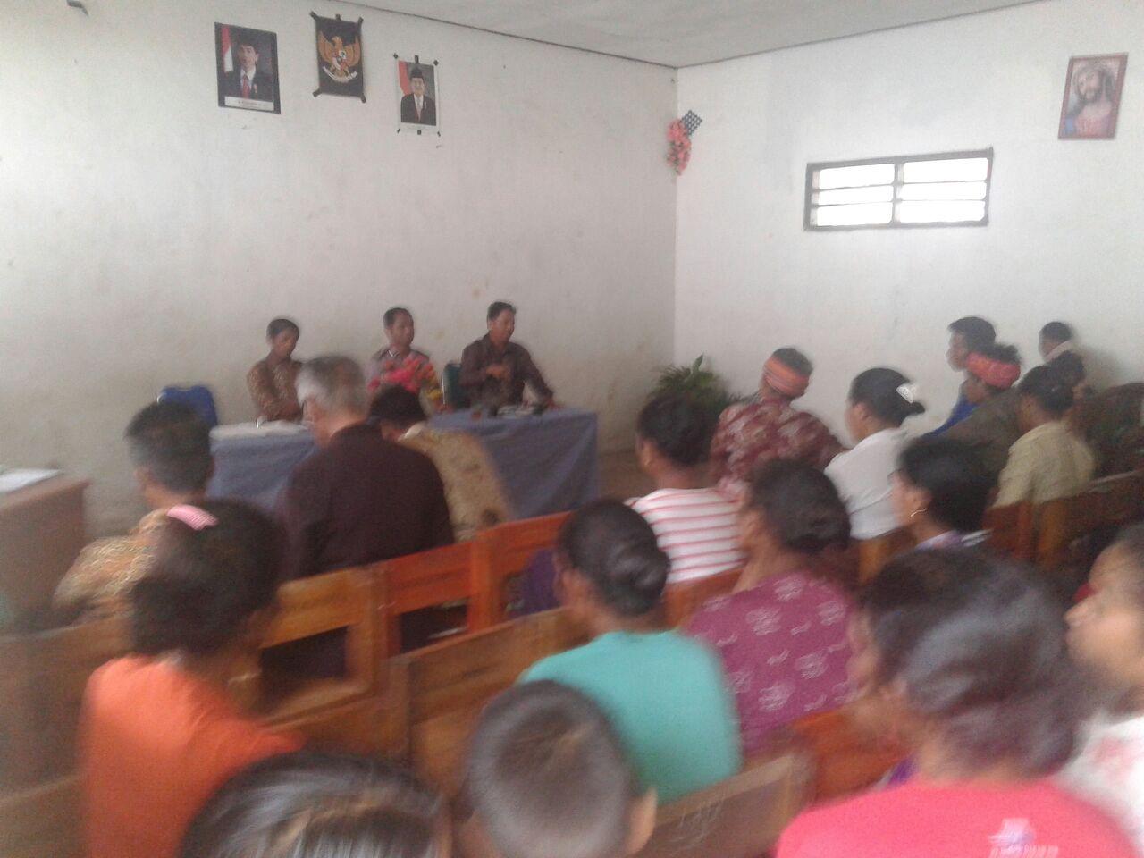 Giat Sambang Polsek Mamboro ke SMP Kristen Mbarabanja Weeluri