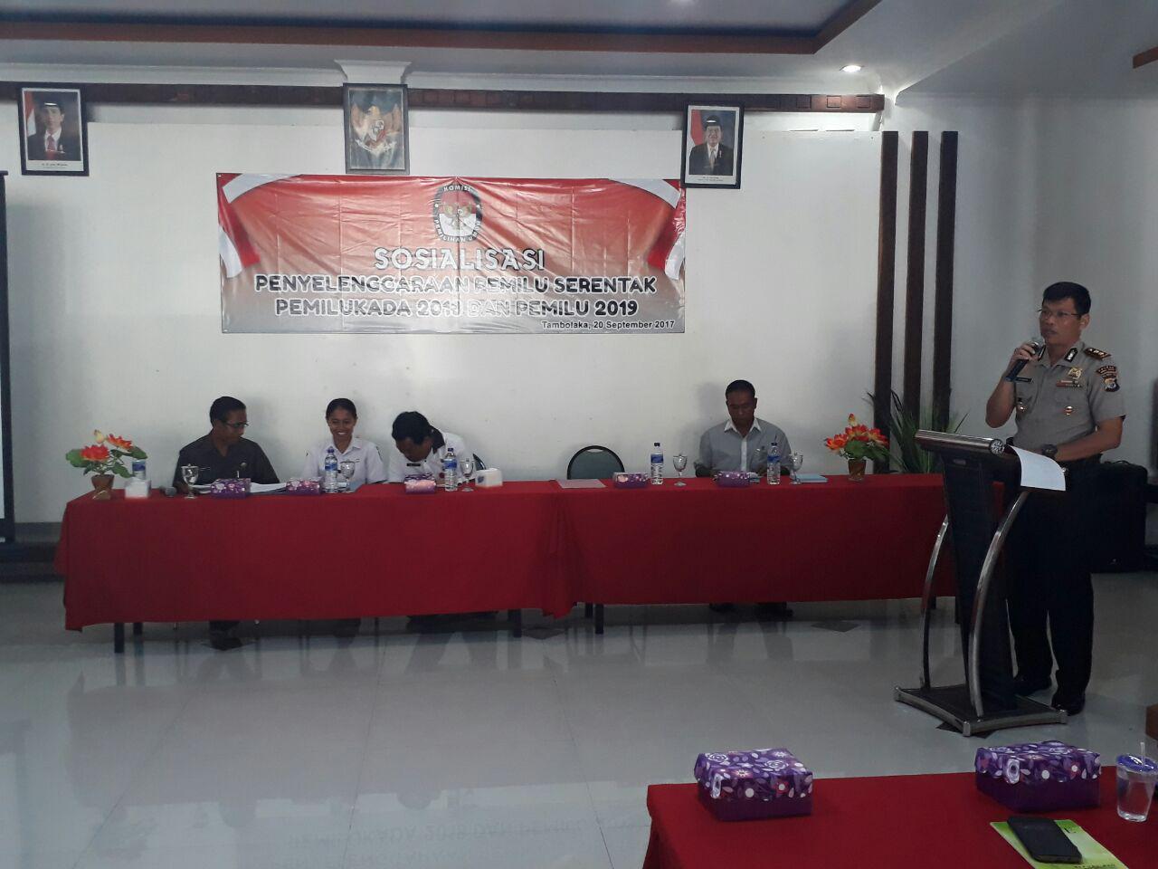 AKBP Muhamad Erwin | Narasumber Sosialisasi Penyelenggaraan Pemilukada 2018 dan Pemilu 2019