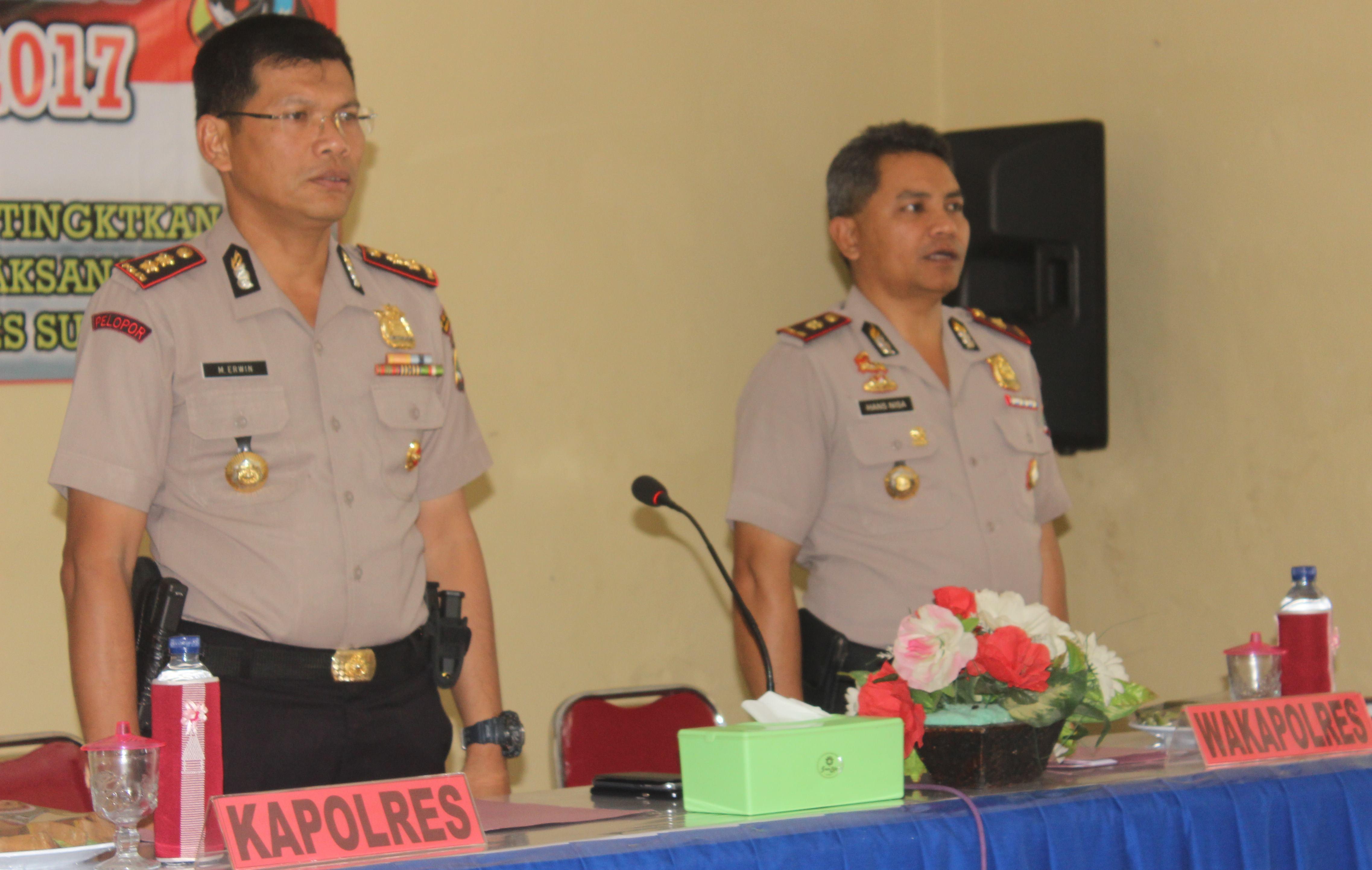 Kapolres AKBP Muhamad Erwin Buka Latihan Pra Operasi Zebra Turangga 2017